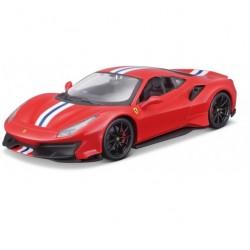 Bburago Ferrari 488 Pista 1:24 czerwony 18-26026