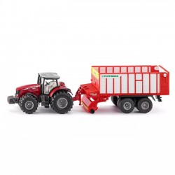 Siku Traktor Massey Ferguson z Pöttinger Jumbo 1987