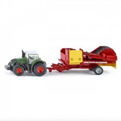 Siku Traktor z Kombajnem do Ziemniaków 1808