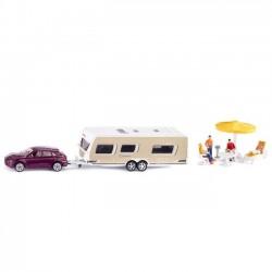 Siku Samochód z przyczepą campingową 2542