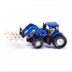 Siku Traktor z widłami paletowymi i paleta 1487