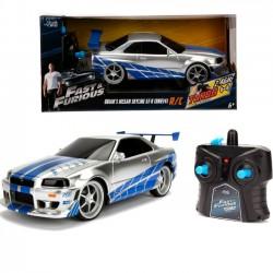 Auto na radio Fast&Furious Szybcy i wściekli Nissan Skyline GTR 1:16 Dickie