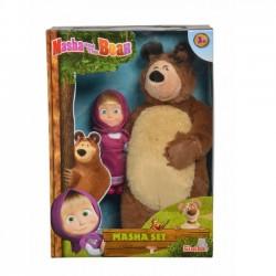 Simba Pluszowy Miś 25 cm i lalka 12 cm Masza i Niedźwiedź  9301072