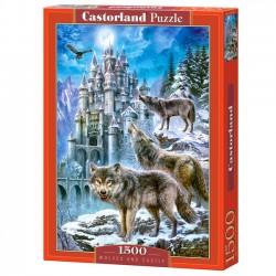 Castor Puzzle 1500 elementów Wolves and Castle 151141