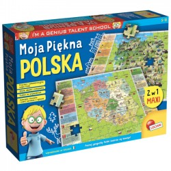 Mały Geniusz  Geopuzzle Moja Piękna Polska 108 el.42043