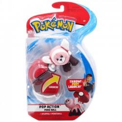 Pokemon Pop Action Poke Ball Stufful i Figurka 950092