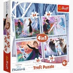 Puzzle 4w1 w Magicznym Lesie 34344