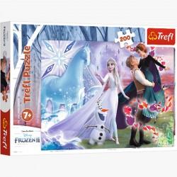 Puzzle 200el. Magiczny Świat Sióstr Frozen II 13265