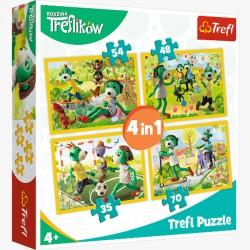 Puzzle 4w1 Wspólne Zabawy Treflików 34337