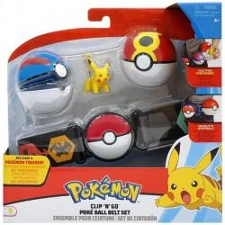Pokemon Figurka Pikachu Pas + 2 Poke Ball seria 4