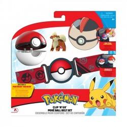 Pokemon Clip 'N' Go Poke Ball Pas + Figurka Growlithe Seria 5-98006