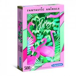 Puzzle 500 elementów Fantastyczne Zwierzęta Flamingi 35067