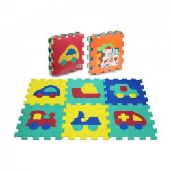 Puzzle Piankowe 6el. Pojazdy 107740