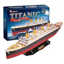 Puzzle 3D Statek Titanic - Zestaw XL 113el. 4011