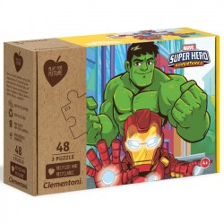 Clementoni Puzzle 3X48el. Play For Future Marvel Superhero 25257