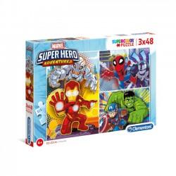 Puzzle Marvel Super Hero - 3x48 el. - Supercolor Puzzle 25242