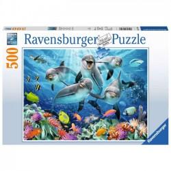 Puzzle  Ravensburger 100el. Delfiny 147106