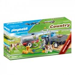 Playmobil Country Traktor ze Zbiornikiem i Cielakiem 70367