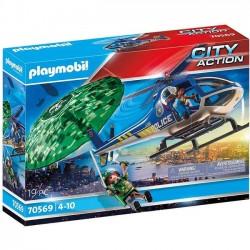 Playmobil - Helikopter policyjny ucieczka ze spadochronem 70569