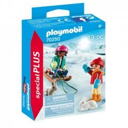 Playmobil - Dzieci na sankach 70250