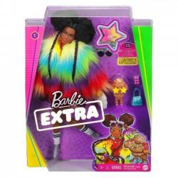 Mattel Lalka Barbie Extra Moda Kolorowe Futro gvr04
