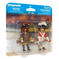 Playmobil - Duo Pack Pirat i oficer Rotrock 70273