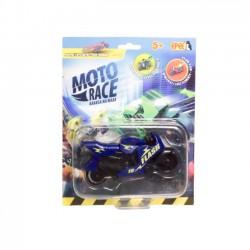 Moto Race  Kraksa na Maxa  Motorek 8,5 cm na Blistrze Granatowy