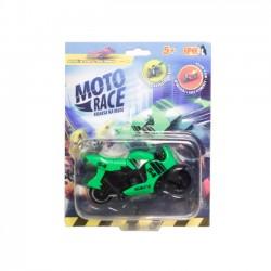 Moto Race  Kraksa na Maxa  Motorek 8,5 cm Zielony