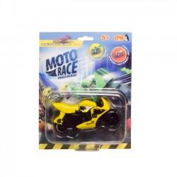 Moto Race  Kraksa na Maxa  Motorek 8,5 cm Żółty
