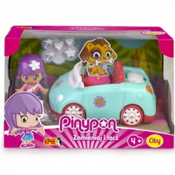 EP Pinypon City Auto Pojazd z Laleczką 7 cm FPP16611