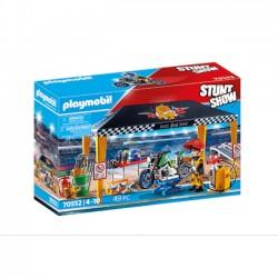 Playmobil Pokaz kaskaderski Namiot Serwisowy 70552