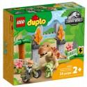 Lego Klocki Duplo 10939 Ucieczka Tyranozaura i Triceratopsa
