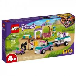 Lego Klocki Friends 41441 Szkółka Jeździecka i Przyczepa dla Konia