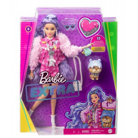 Lalka Barbie Extra Fioletowe Fale gxf08