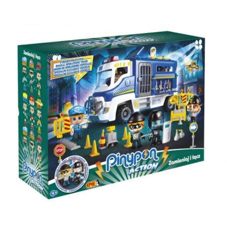 Pinypon Action – Zestaw Furgon Policyjny z 2 Figurkami i Akcesoriami FPP16060