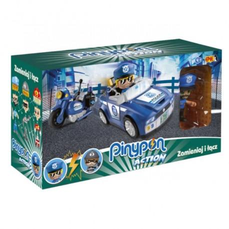 Pinypon Action – Pojazd z figurką 7 cm i Akcesoriami-Policja  FPP16057