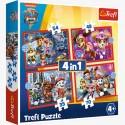 Puzzle Trefl 4w1 Psi Patrol w Mieście 34374
