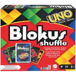 Gra Blokus Shuffle z Kartami w Styl UNO GXV91