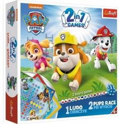 Gra 2w1 Chinczyk/Psi wyścig Psi Patrol