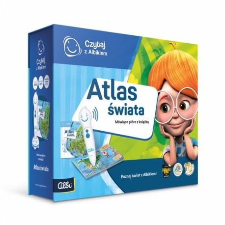 Zestaw pióro Albik z książka: Atlas świata.