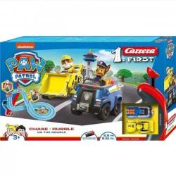 Carrera Psi Patrol Tor Wyścigowy 2,9m Chase i Rubble