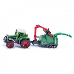 Siku Traktor z rębakiem do drewna
