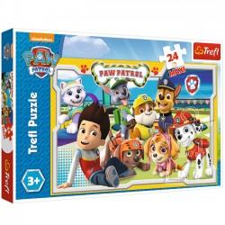 Puzzle Maxi 24 elementy Wesoła drużyna Psi Patrol