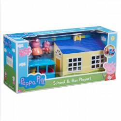 Tm Toys Świnka Peppa Zestaw Szkoła Z Autobusem