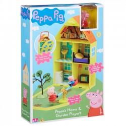 Tm Toys Świnka Peppa Domek I Ogródek + 2 Figurki
