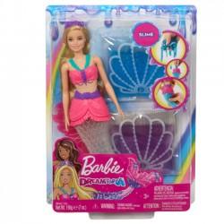 Barbie Lalka Syrena Brokatowy slime