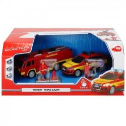 Dickie Toys SOS Zestaw Drużyna strażacka Samochody