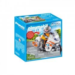 Playmobil - Motocykl ratowniczy ze światłem