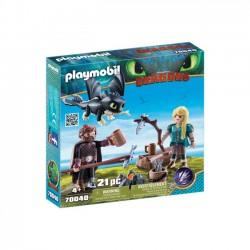 Playmobil - Czkawka i Astrid z małym smokiem