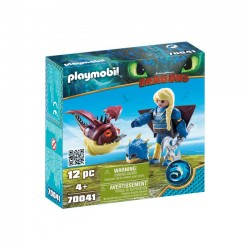 Playmobil - Astrid i Hobbgobler w zbroi do latania
